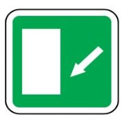 Safe Safety Sign - Door Left Down 044